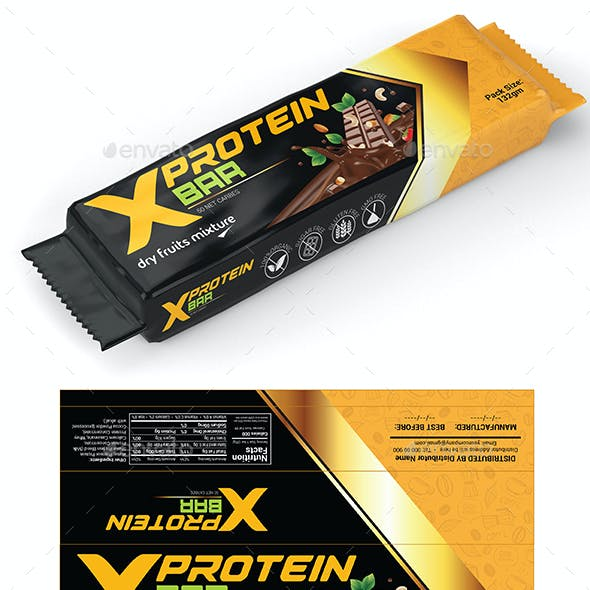 Protein Bar Wrapper Template