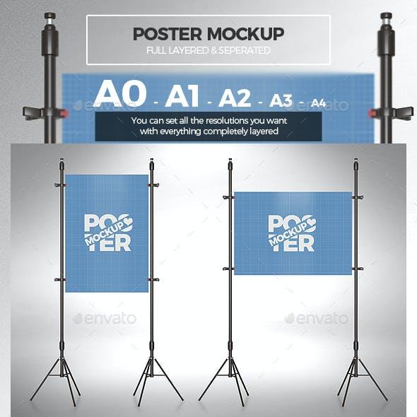 Poster Mockup / Full Paper Size