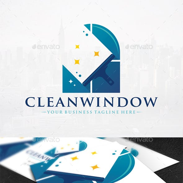 Cleaning Glass Logo Design