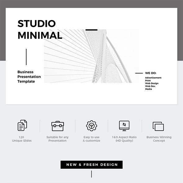 Studio Minimal Presentation Google Slides Template
