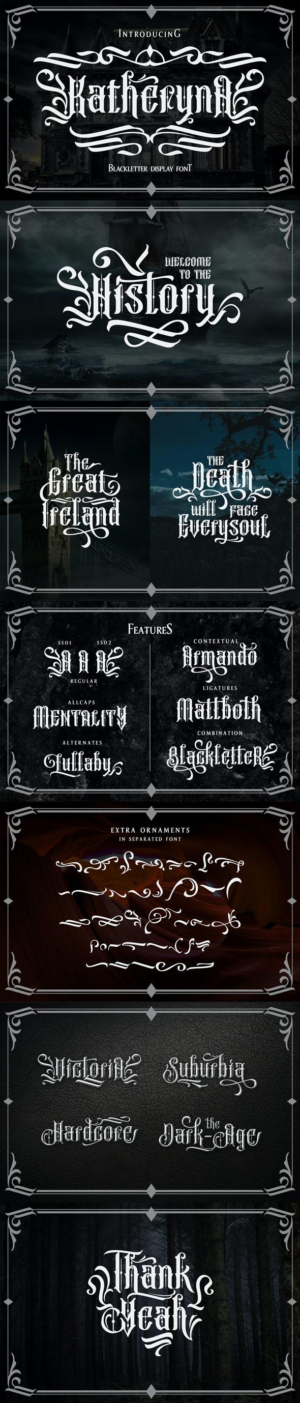 Katheryna Typeface - Miscellaneous Decorative