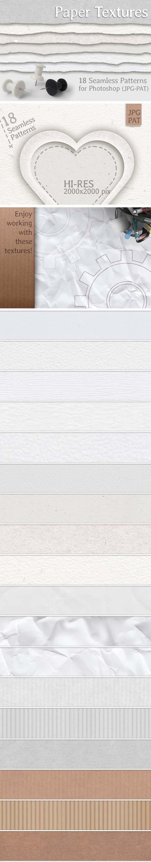 Paper Textures - Miscellaneous Textures / Fills / Patterns