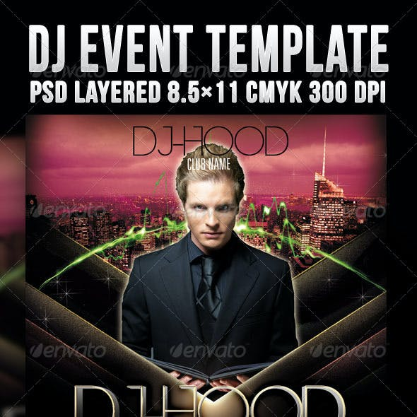 DJ Event Template