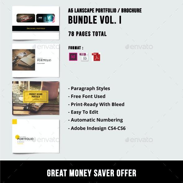 A5 Lanscape Portfolio / Brochure Bundle