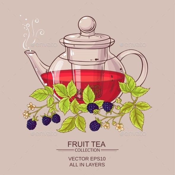 Blackberry Tea in Teapot