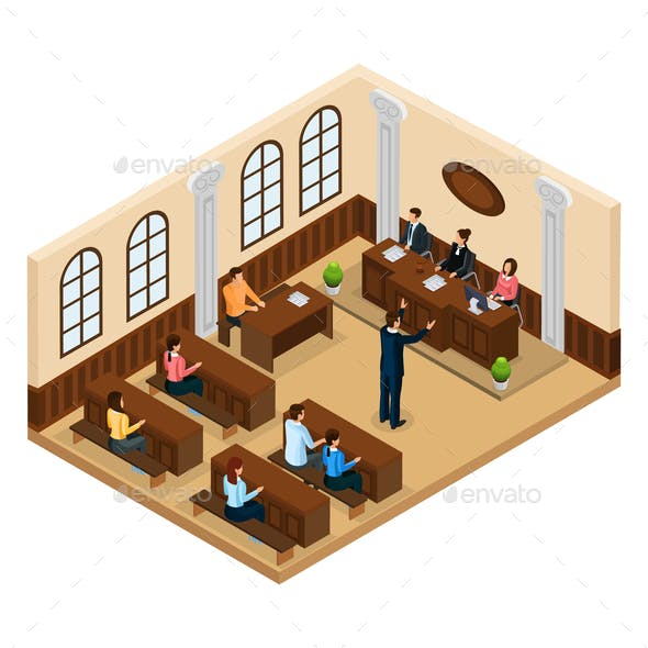 Isometric Judicial System Concept