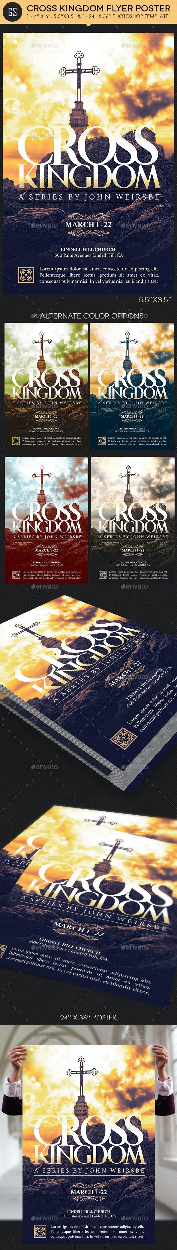 Cross Kingdom Flyer Poster Template - Church Flyers