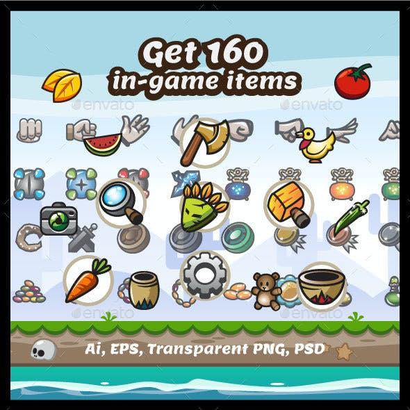160 In-Game Items