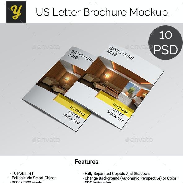 US Letter Brochure Mock-up
