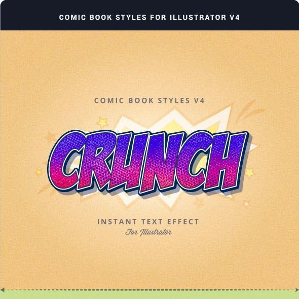 Comic Book Styles for Illustrator V4