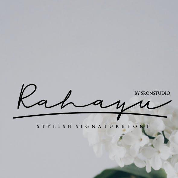 Rahayu - A Stylish Signature Font