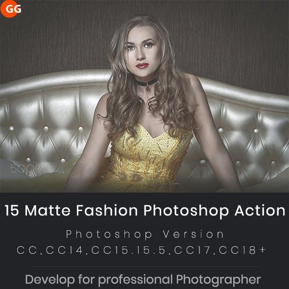 15 Matte Fashion Photoshop Action