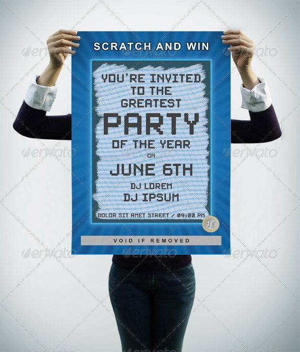 Scratch Party Flyer - Clubs & Parties Events