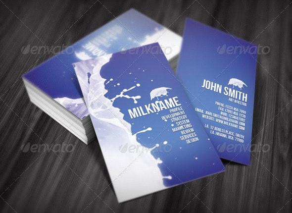 Milk Business Card - Creative Business Cards