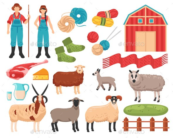 Sheep Breeding Farm Set