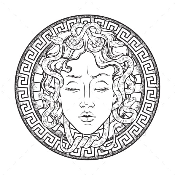 Medusa Gorgon Head on a Shield