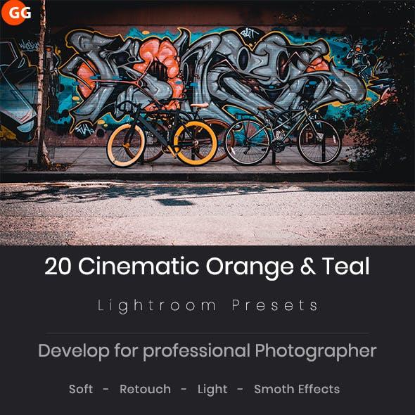 20 Cinematic Orange & Teal Look Lightroom Preset V2