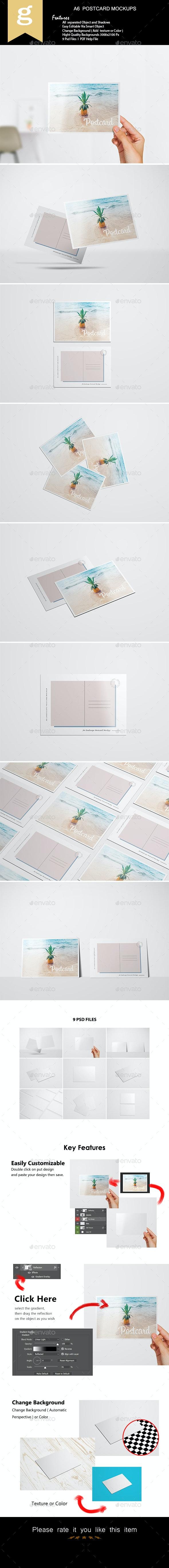 A6 Flyer / Postcard Mock-Up - Flyers Print