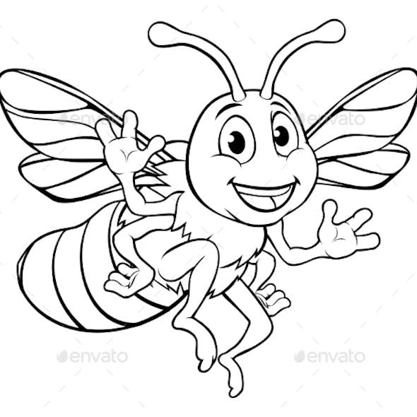 Bumble Honey Bee Cartoon Character