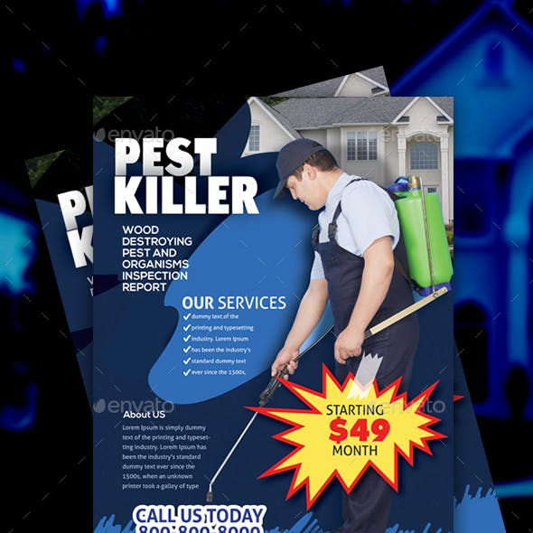 Pest Control Service Flyer Design