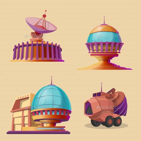 Vector Set with Objects for Space Exploration