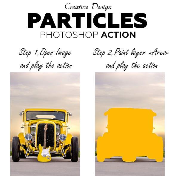 Particles Photoshop Action