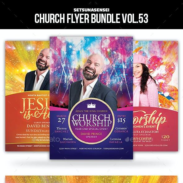 Church Flyer Bundle Vol. 53