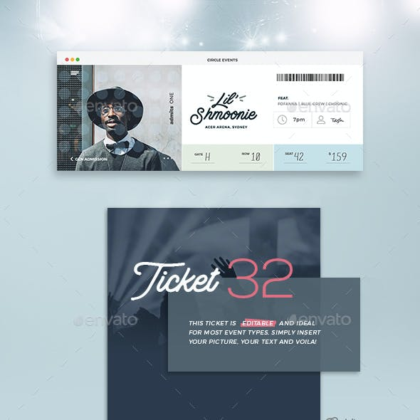 Event Tickets Template 32