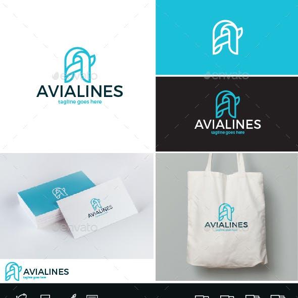 Avia Lines Logo • Letter A