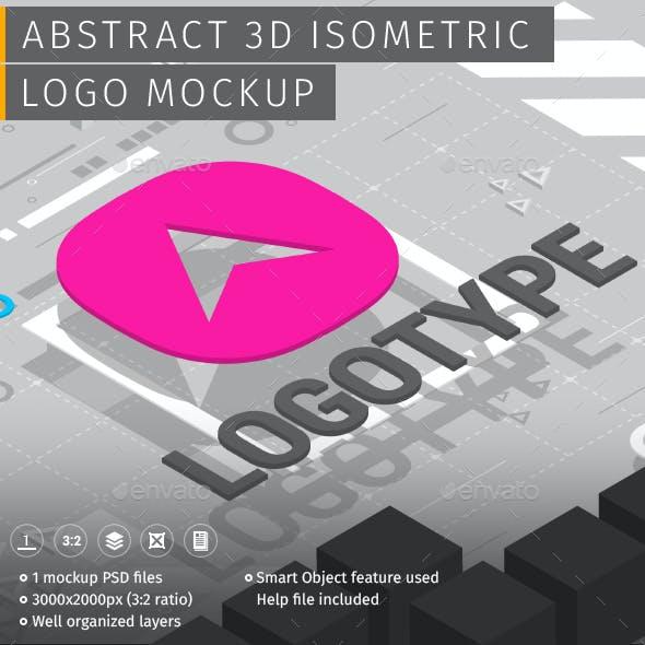 Abstract 3D Isometric Logo Mockup