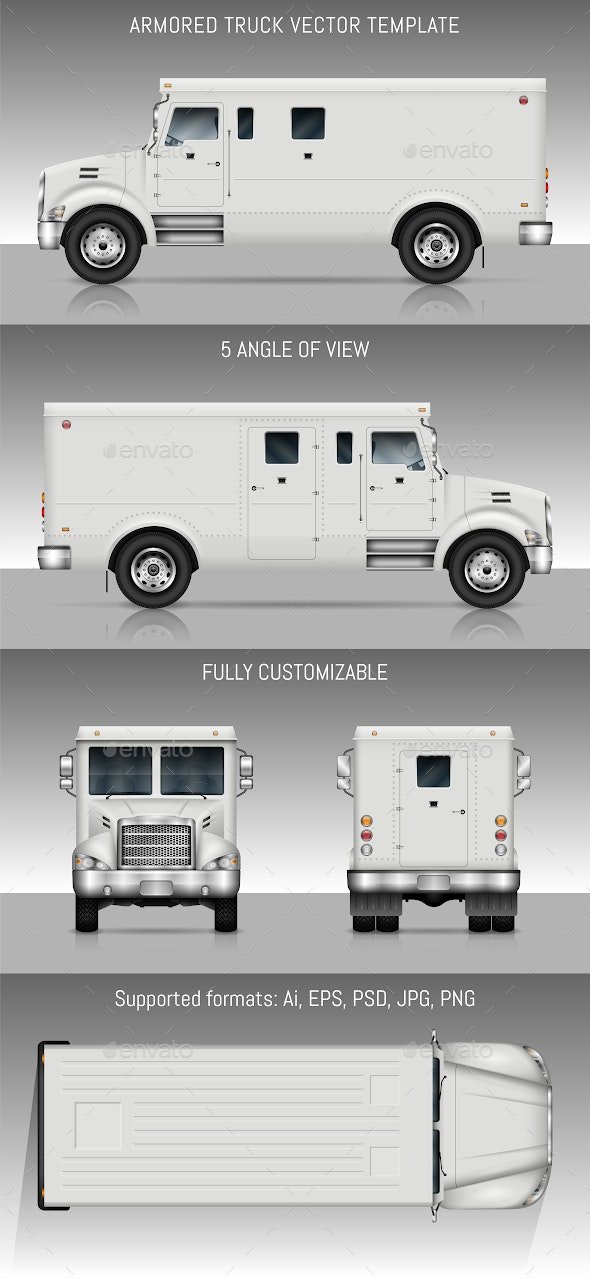 Armored truck - Man-made Objects Objects