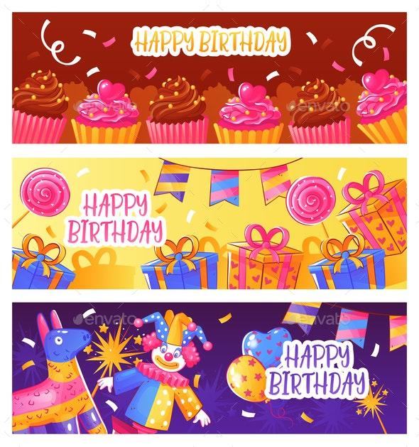 Birthday Party Banners - Birthdays Seasons/Holidays