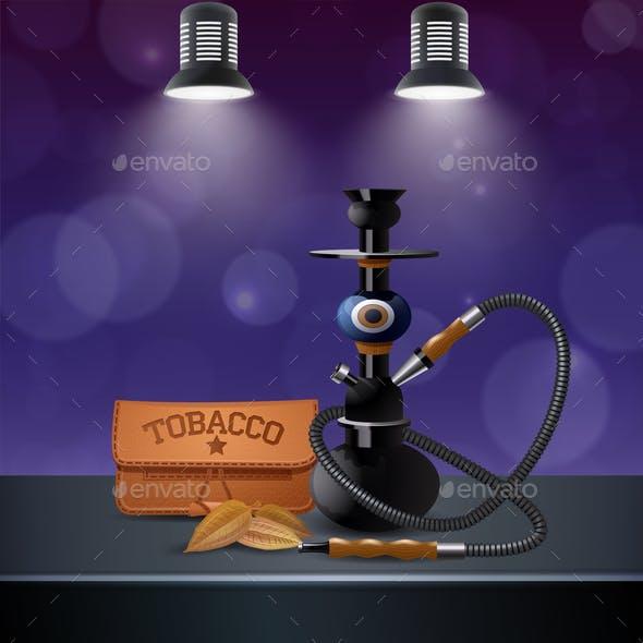 Realistic Colored Tobacco Composition