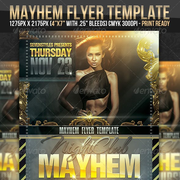 Mayhem Flyer Template