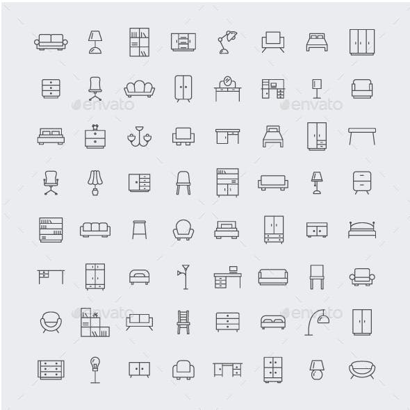 64 Home Furniture Icons