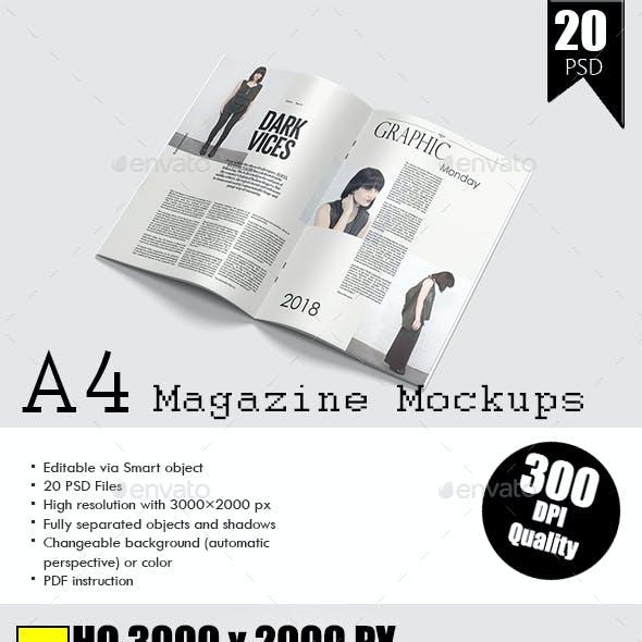A4 Catalog / Magazine Mock-Up