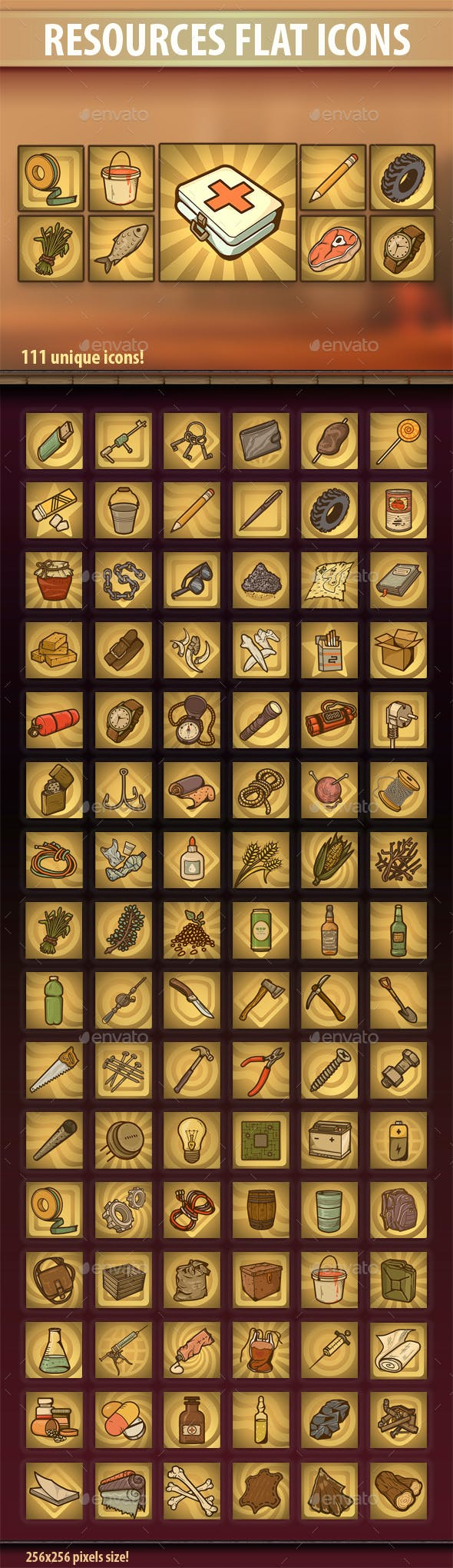 Resources Flat Icons