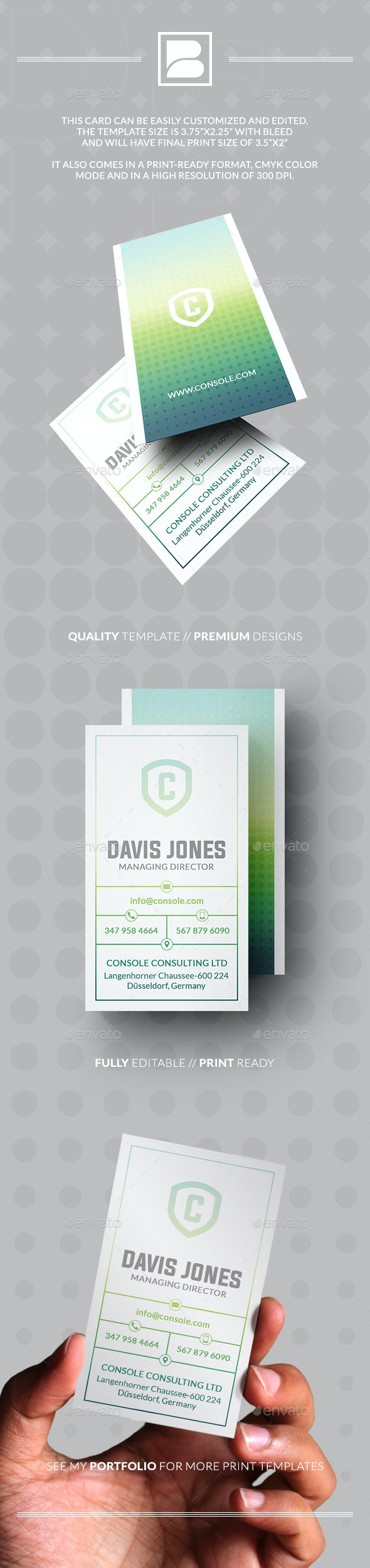 Holographic Business Card - Business Cards Print Templates
