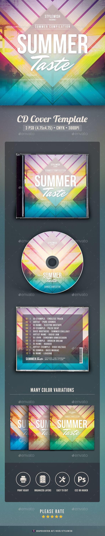 Summer Taste CD Cover Artwork - CD & DVD Artwork Print Templates