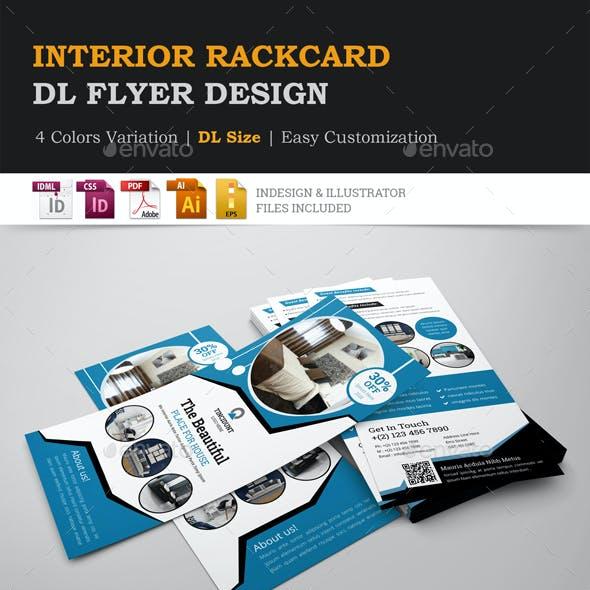 Interior Rack card DL Flyer Design Template