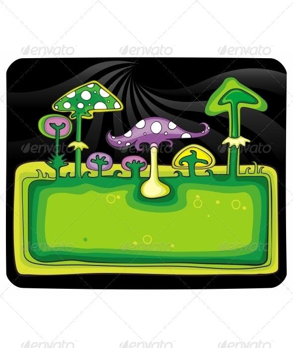 Mushroom frame - Landscapes Nature