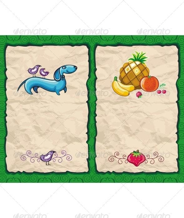 Grunge summer backgrounds  - Backgrounds Decorative