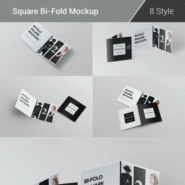 Bi-Fold Brochure Mock-Up Pack
