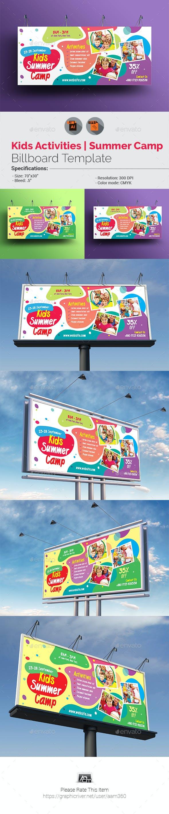 Kids Activities | Kids Summer Camp Billboard