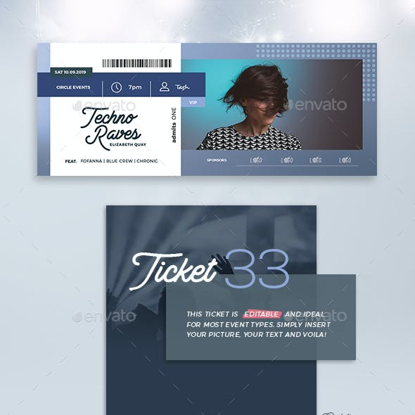 Event Tickets Template 33