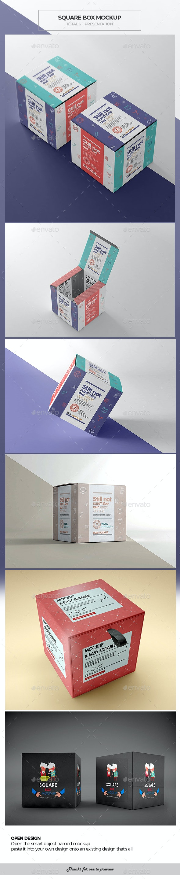 Square Box Mockup 2 - Miscellaneous Packaging