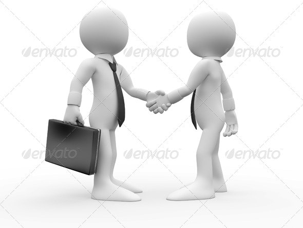 Businessmen Shaking their Hands - 3D Renders Graphics