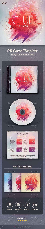 Club Sounds CD Cover Artwork - CD & DVD Artwork Print Templates