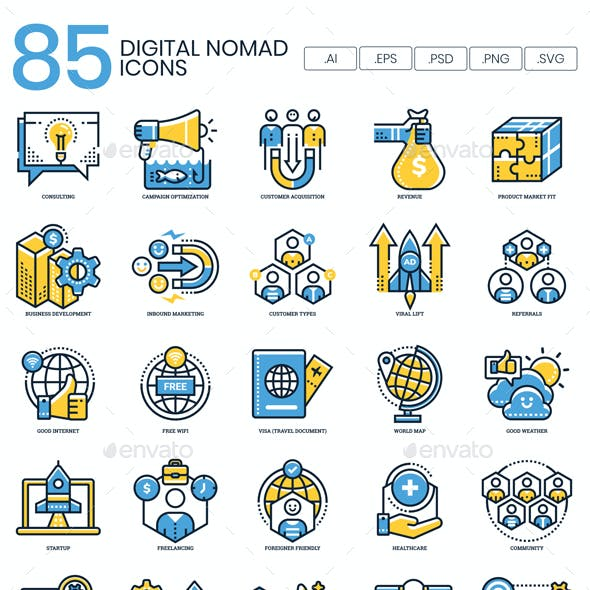 Digital Nomad Icons