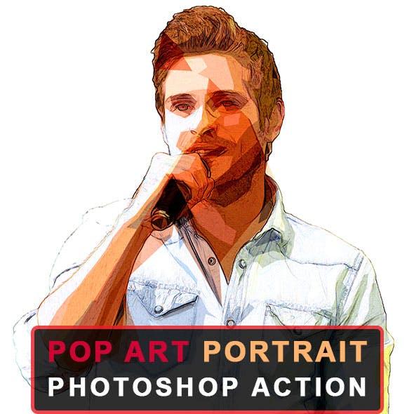 Pop Art Portrait Photoshop Action